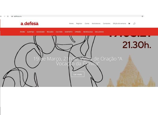 """Já pode ouvir o Ser Igreja de 21 de Março: O 98.º aniversário do jornal """"a defesa"""" em destaque"""