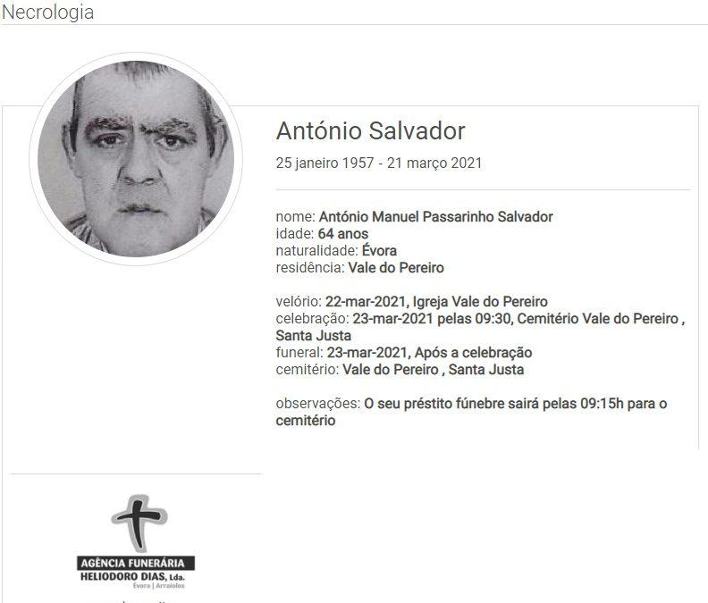Vale do Pereiro: Faleceu o sr. António Salvador