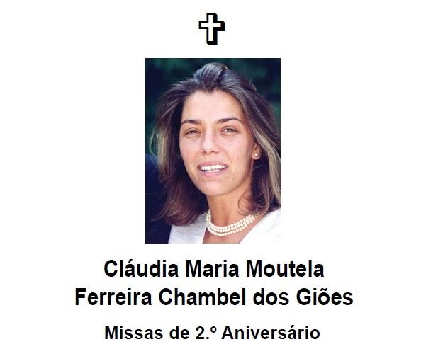 Missas – Cláudia Maria dos Giões