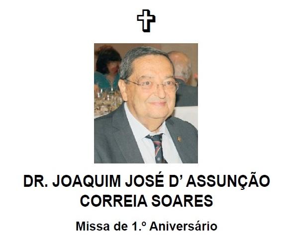 Missa – Dr. Joaquim José D' Assunção Correia Soares