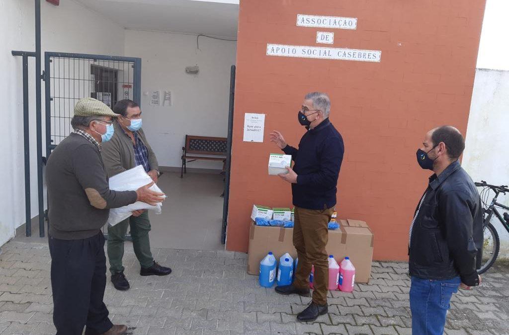 Alcácer do Sal: Câmara Municipal distribuiu EPIs pelas IPSSs e Bombeiros do Concelho