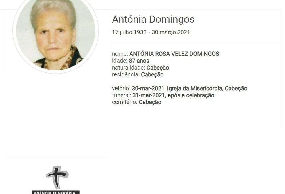 Cabeção: Faleceu a sra. Antónia Domingos