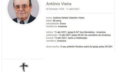 Arraiolos: Faleceu o sr. António Vieira