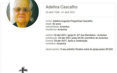 Arraiolos: Faleceu a sra. Adelina Cascalho