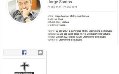 Évora: Faleceu o sr. Jorge Santos