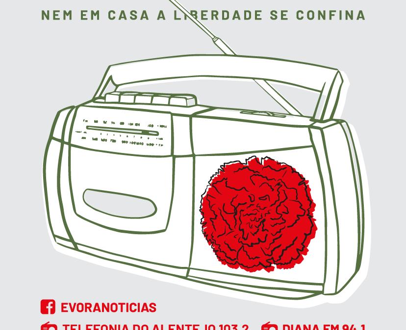 CÂMARA MUNICIPAL DE ÉVORA CELEBRA 25 DE ABRIL NA RÁDIO E REDES SOCIAIS COM CONCERTO DE JORGE PALMA