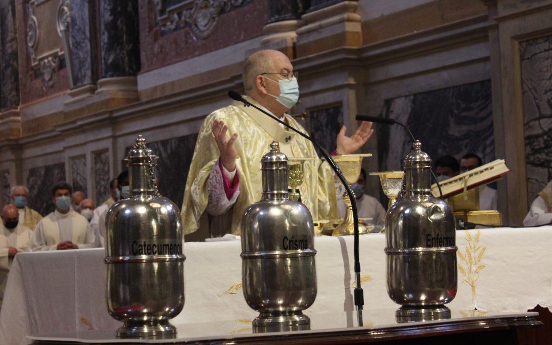 1 de abril, às 10h: Arcebispo presidiu à Missa Crismal na Catedral de Évora
