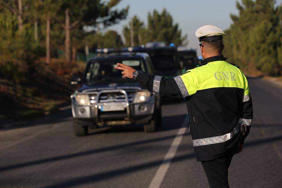 16 a 22 de Agosto: GNR regista 276 infrações de trânsito no Distrito de Évora