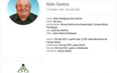 Campo Maior: Faleceu o sr. Ilídio Santos