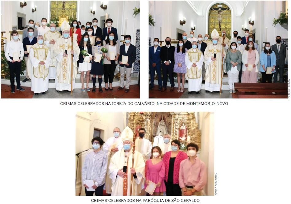 Sacramento da Confirmação: Paróquias do concelho de Montemor-o-Novo