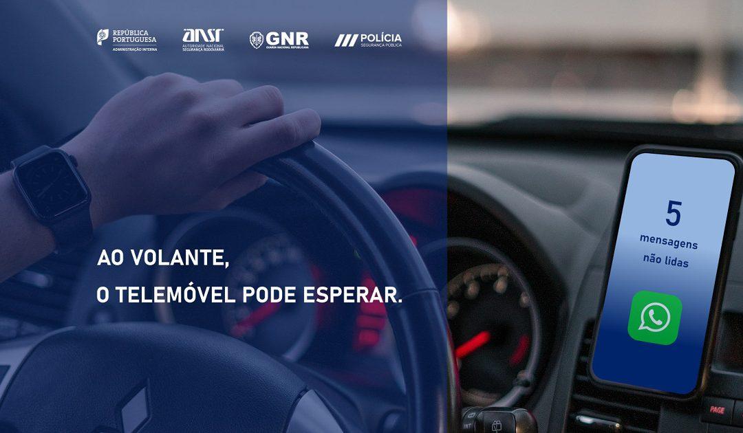 """25 a 31 de maio: Campanha """"Ao volante, o telemóvel pode esperar"""""""
