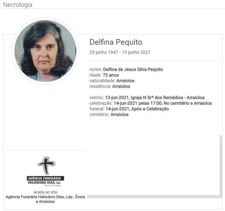 Arraiolos: Faleceu a sr. Delfina Pequito