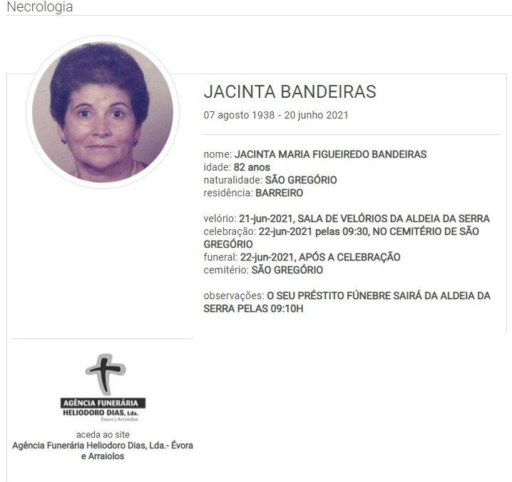São Gregório: Faleceu a sra. Jacinta Bandeiras