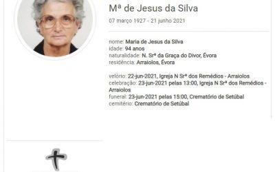 Arraiolos: Faleceu a sra. Maria de Jesus da Silva