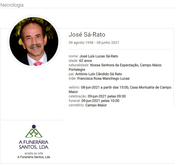 Campo Maior: Faleceu o sr. José Sá-Rato