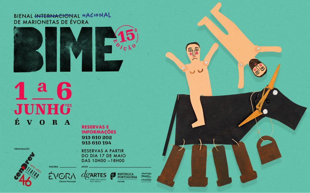 15.ª edição da Bienal Internacional de Marionetas de Évora realiza-se de 1 a 6 de junho