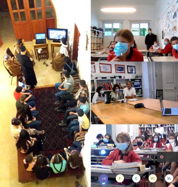 """PORTUGAL: """"Lição de vida"""" no Dia da Criança em encontro virtual entre alunos de Lisboa e da Paróquia de Qara, na Síria"""