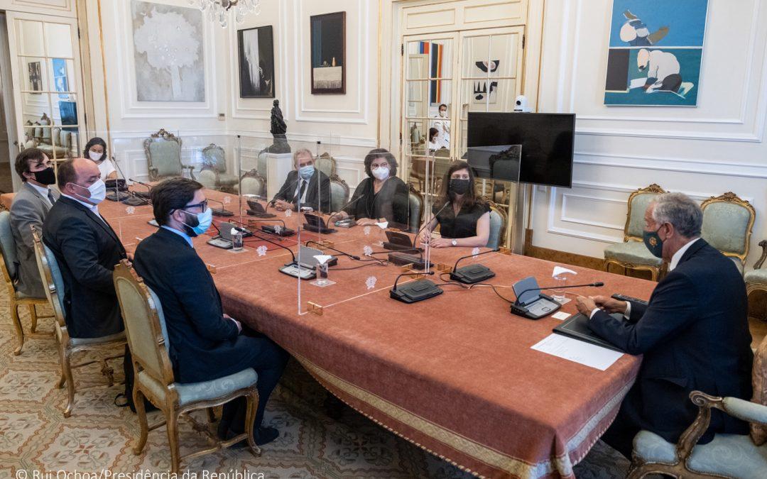 "Presidente da República recebe representantes de ""Movimento por Cabo Delgado"" e manifesta disponibilidade para colaborar com esta iniciativa da sociedade civil portuguesa"