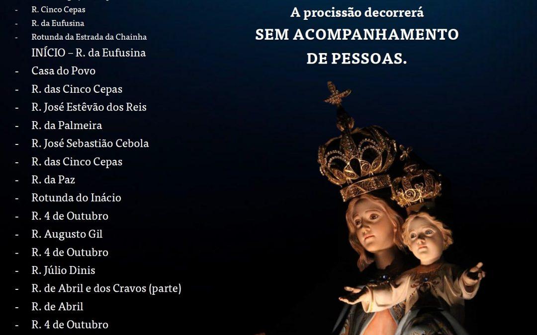 28 de agosto, às 21h30: Procissão automóvel em honra de Nossa Senhora da Boa Esperança