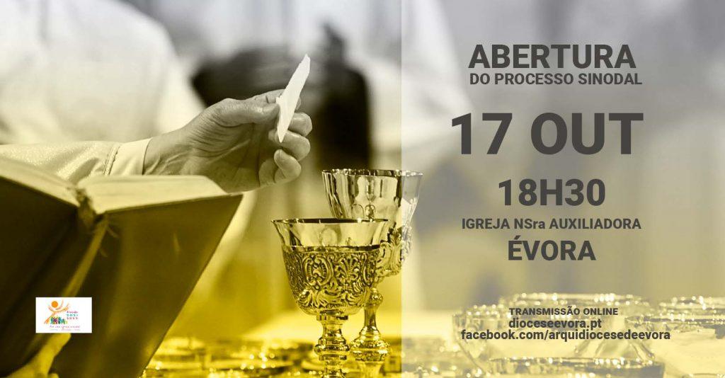 EM DIRECTO – 17 de outubro, às 18h30: Abertura do processo sinodal na Arquidiocese de Évora